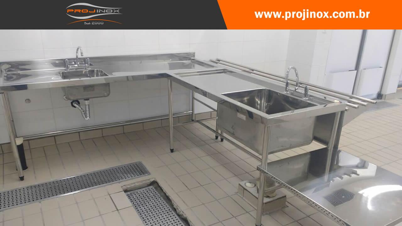 Bancada Inox Com Cuba Para Hospital Projinox